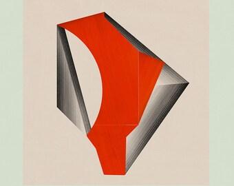 Abstract Art, Abstract Wall Art, Geometric Art, Minimalist, Modern Art, Mid Century Modern Art - Limited edition (20)