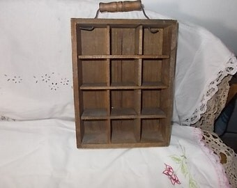 Small Wooden Box with Handle on It,Small wood Crate,Wooden Box,Storage,Organization,Shadow Box,For Collectiables,Not Included in Coupon Sale