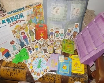 Arthur Goes to the Library Game By Milton Bradley Made in USA,Vintage Board Game,Children's Board Game, Family Game Night,