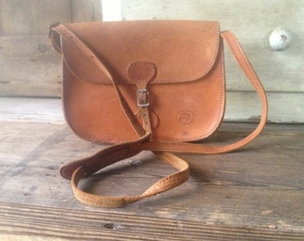Leather Crossbody Saddle Bag, Made in England, Cigar Brown, Artisan Crafted