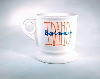 Boise, Idaho Mug - Custom available, Boise, Idaho, Orange, Blue, Idahome, gift, souvenir