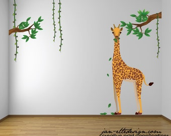 Jungle Theme Nursery Etsy - Jungle themed nursery wall decals
