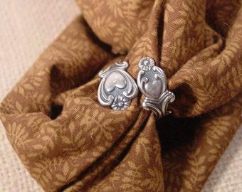 Avon Treasured Heart Sterling Silver Spoon Ring - Vintage 1975