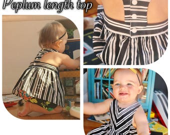 Custom Tea Party Peplum Top