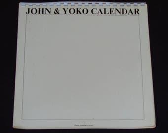 John & Yoko Calendar 1970 - John Lennon - Yoko Ono - Poetry - Black and White Photo Calendar -  Vintage Beatles Collectible