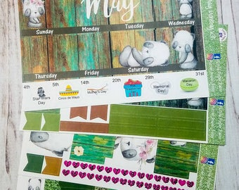 May monthly spread sticker kit for the Erin Condren life planner