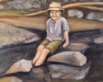 Boy at Creek - Studio Sale