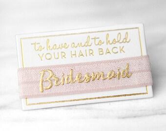 Bridesmaid Hair Ties, Bachelorette Favors, Bridesmaid Gifts, Hair Tie Party Favors,Bridesmaid Proposal,Elastic Hair Ties,Bridal Shower Favor