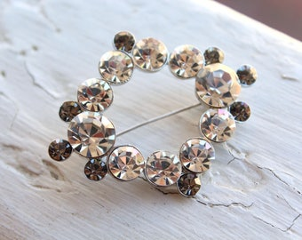 Vintage Preciosa Crystal Brooch // New Old Stock // Large Crystal Brooch // Crystal Pin // N339