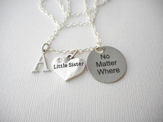Wedding Gift For Sorority Sister : ... wedding jewelry gift, Sorority, Sister love necklace, sisters gift