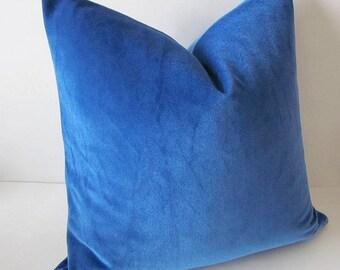 Blue Velvet Pillow, Royal Blue Velvet Pillow, Blue Pillow Cover, Luxury Pillow, Decorative Pillow, Velvet Lumbar Pillow, Glam Pillow Cover