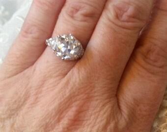 Engagement Rings - Antique Engagement Ring - Art Nouveau Ring