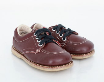 Vintage Toddler Shoes / Vintage Toddler Shoes / Kids Brown Shoes / Kids 1970s Shoes / Kids Shoes US Size 5.5