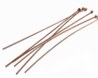 100pc 60mm 0.7mm antique copper finish round head pin-OFF182