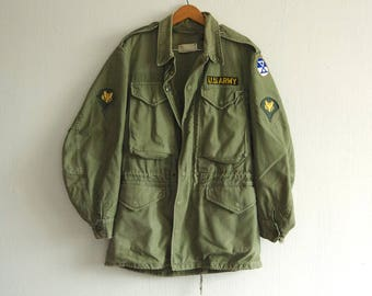 Vintage M-1951 Military Cold Weather Field Jacket X-Small Regular | 10th Army Corps