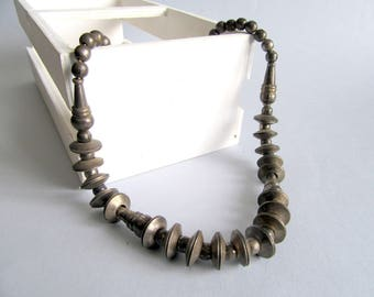 Antique Tribal Silver Necklace from India.