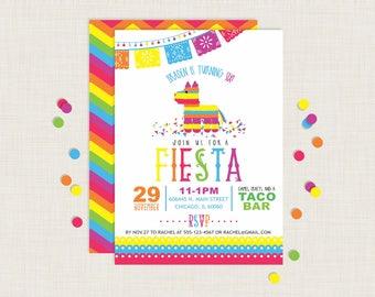 Fiesta Invitation   Piñata Invitation   Fiesta Birthday Invitation   Fiesta Party   Cinco de Mayo Invitations   Pinata Birthday Invitation