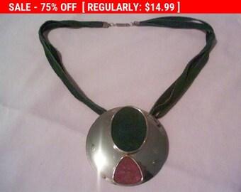 SALE large pendant statement necklace, estate jewelry, hippie, boho