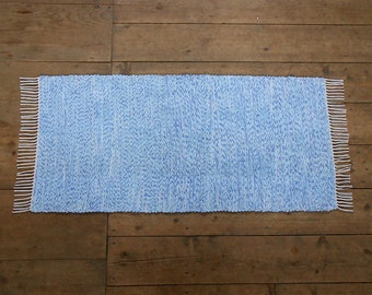 2x4 Rag Rug / Marine Blue