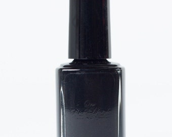 Black Nail Polish, natural nail polish, Vegan Beauty, free from toxins, vegan nail polish, vegan gift,