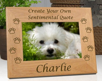 Dog Paw Picture Frame - Create Your Own Sentiment