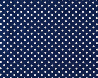 FABRIC-Navy and White Polka Dot Fabric by the Yard-Quilt Fabric-Apparel Fabric-Home Decor Fabric-Fat Quarter-Craft Fabric-Fat Quarters