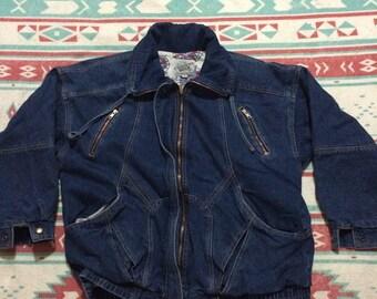 Vintage Current Seen Brand Thick Denim Jacket