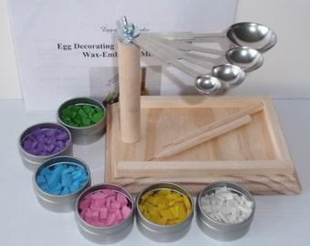 EggstrArt Egg Decorating Kit for Drop Pull Wax-Embossed Method of Egg Decorating