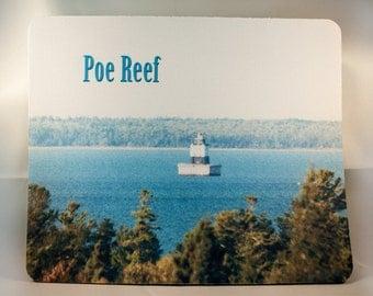 Mousepad, Lake Huron Michigan Lighthouse  Design, Office Décor, Photograph, Artistic, Office Accessory