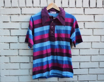 Vintage BEAU JEFF Polo Shirt made in usa collared short sleeve 100% cotton short sleeve dress