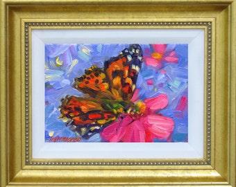 Mini Canvas Print - Painted Lady
