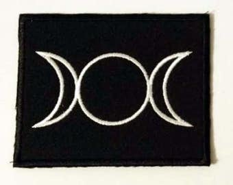 Vesica piscis - embroidered patch, BUY3 GET4, 3,2 X 2,4 INCH