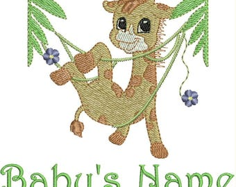 Custom Machine Embroidered  Baby Blanket with Baby's Name