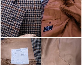 SALE Samuelsohn vintage Sports Jacket Blazar Plaid spotless made for Harry Rosen