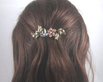 Hummingbird French Barrette 70mm- Hair Accessory- Barrettes and Clips- Bird Watcher gift