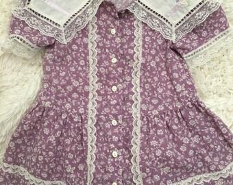 Lavender Dream RARE Jessica McClintock for Gunne Sax dress SZ T2