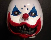 evil clown ornament
