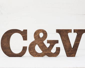 Wooden letters - free standing letters - rustic letters - letter decor - wood letters - standing letter - wedding decor - letters wedding