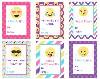 Smiley Face Kids Printable Valentine's