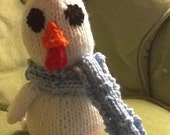 Hilary the cheepy chicken, Hilary the chicken, my first chicken, Hilary the stuffed chicken, chicken with blue scarf.