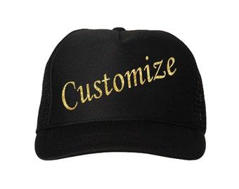 Custom trucker hat/ Solid Color trucker hat / baseball hat / custom gifts / gifts for her