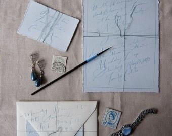 Light Blue Wedding Invite with envelopes