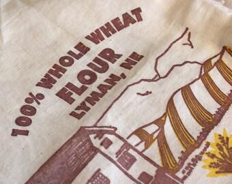 Flour sacks, genuine flour sacks, Sleepy Hollow Mills flour sacks, Lyman Nebraska cotton flour sacks, 5 pound flour sacks, flour bags