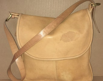 Vintage Coach Leather Handbag Satchel USA Includes Hangtag 1970's
