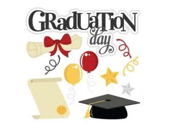 Scrapbook, Scrapbooking, Graduation die cuts, Die cuts, Graduation, Graduation Scrapbook, Scrapbook embellishment, graduation card making