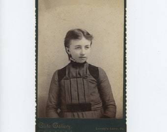Victorian Cabinet Card 1800s: Young Girl, Elite Gallery, Lundy's Lane, PA (71549)