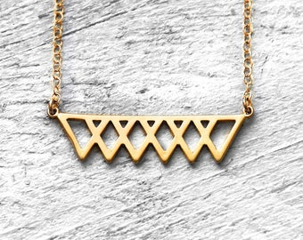 TIPA necklace with triangles | gold