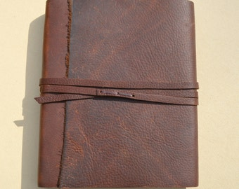 Custom Made to Order Leather Bound Journal Lined Western Travel Adventure Kodiak Diary Notebook (595B)
