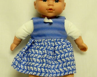 Sleeveless Blue Dress For 12 Inch Baby Doll
