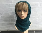 Hand knitted neck warmer 2-in-1 knitted with pure QIVIUT
